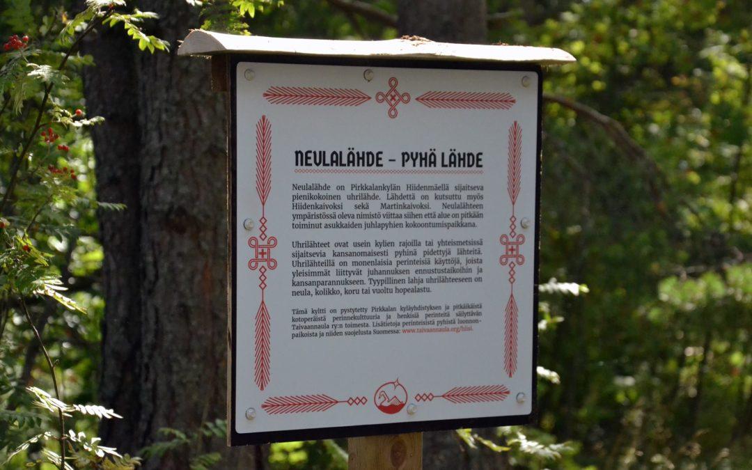 Suomen ensimmäinen hiisikyltti pystytettiin Pirkkalaan