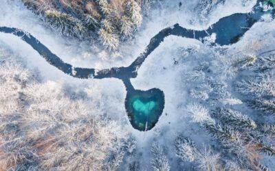 Talvinen ilmakuva toi voiton Hiisien kuvakilpailussa – palkintoja myös Suomeen